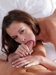 Tight spinner Kacy Lane eagerly takes his big cock into her shaved pussy
